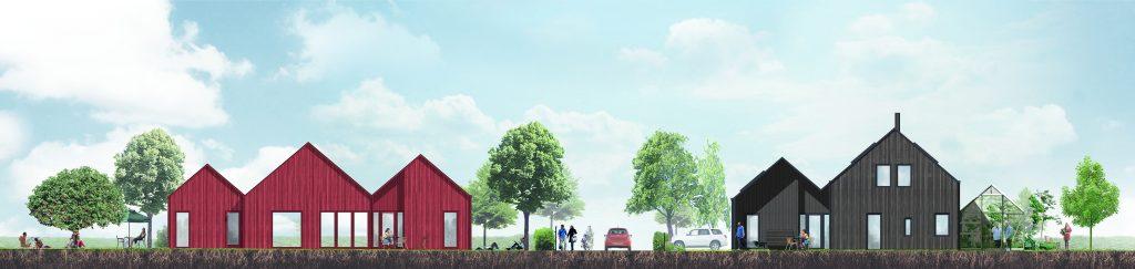 Området, som kanske kommer att kallas Fyrstrandsbyn, får en harmonisk helhet, samtidigt som det finns stora möjligheter för de boende att välja ett hus som passar just för deras behov.